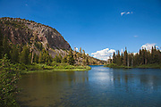 Twin Lakes, Mammoth Mountain Lakes Basin, Inyo National Forest, California, USA
