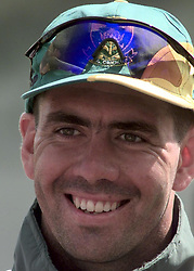 South African cricket captain Hansie Cronje smiles during practice in the nets at Edgbaston, ahead of his side's World Cup cricket semi-final match against Australia. Australia won their previous encounter, in the Super Six stage of the tournament. 01/06/02 : South African cricket captain Hansie Cronje  during practice in the nets at Edgbaston, June 16, 1999. Hansie Cronje was on board a cargo plane that crashed in South Africa. The plane crashed near the city of George in the southern part of the country and three bodies were spotted on the ground, the South African Press Association reported.