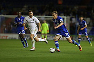 Lee Erwin of Oldham Athletic runs with the ball during the EFL Sky Bet League 1 match between Oldham Athletic and Northampton Town at Boundary Park, Oldham, England on 16 August 2016. Photo by Simon Brady.