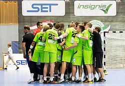 01.10.2016, BSFZ Suedstadt, Maria Enzersdorf, AUT, HLA, SG INSIGNIS Handball WESTWIEN vs SC kelag Ferlach, Grunddurchgang, 5. Runde, im Bild die Mannschaft von WestWien// during Handball League Austria, 5 th round match between SG INSIGNIS Handball WESTWIEN and SC kelag Ferlach at the BSFZ Suedstadt, Maria Enzersdorf, Austria on 2016/10/01, EXPA Pictures © 2016, PhotoCredit: EXPA/ Sebastian Pucher