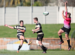 Theuns Kotze of Boland clears during the Currie Cup premier division match between the Boland Cavaliers and The Pumas held at Boland Stadium, Wellington, South Africa on the 2nd September 2016<br /> <br /> Photo by:   Shaun Roy/ Real Time Images