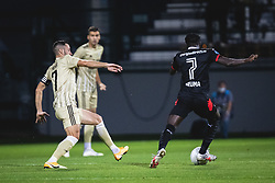 Alen Kozar of Mura and Bruma of PSV Eindhoven during football match between NS Mura and PSV Eindhoven in Third Round of UEFA Europa League Qualifications, on September 24, 2020 in Stadium Fazanerija, Murska Sobota, Slovenia. Photo by Blaz Weindorfer / Sportida