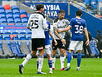 Football - 2020 / 2021 Sky Bet Championship - Cardiff City vs Rotherham United - Cardiff city Stadium<br /> <br /> Angus MacDonald Rotherham United on the pitch looking dejected after the final whistle. Rotherham's draw with Cardiff will result in relegation.<br /> <br /> COLORSPORT/WINSTON BYNORTH