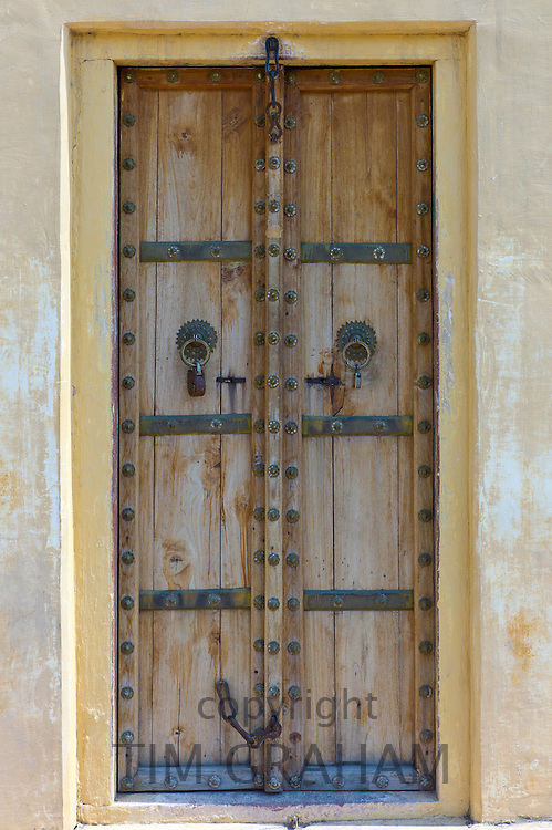 Traditional doorway at The Observatory in Jaipur, Rajasthan, Northern India