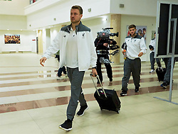 KAZAN, RUSSIA - Thursday, November 5, 2015: Liverpool's goalkeeper Simon Mignolet arrives before the UEFA Europa League Group Stage Group B match against FC Rubin Kazan at the Kazan Arena. (Pic by Oleg Nikishin/Propaganda)