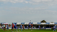 Players contest a high ball during the EFL Sky Bet League 1 match between Bristol Rovers and Ipswich Town at the Memorial Stadium, Bristol, England on 19 September 2020.
