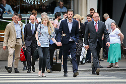 Connie Yates looking stressed and tired as she arrive at the Royal Courts of Justice with Chris Gard on the 3rd day of the new evidence for Charlie treatment - London<br /><br />14 July 2017.<br /><br />Please byline: Vantagenews.com