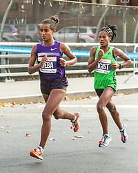 ING New York CIty Marathon: Buzunesh Deba and Tigist Tufa lead race near mile 11
