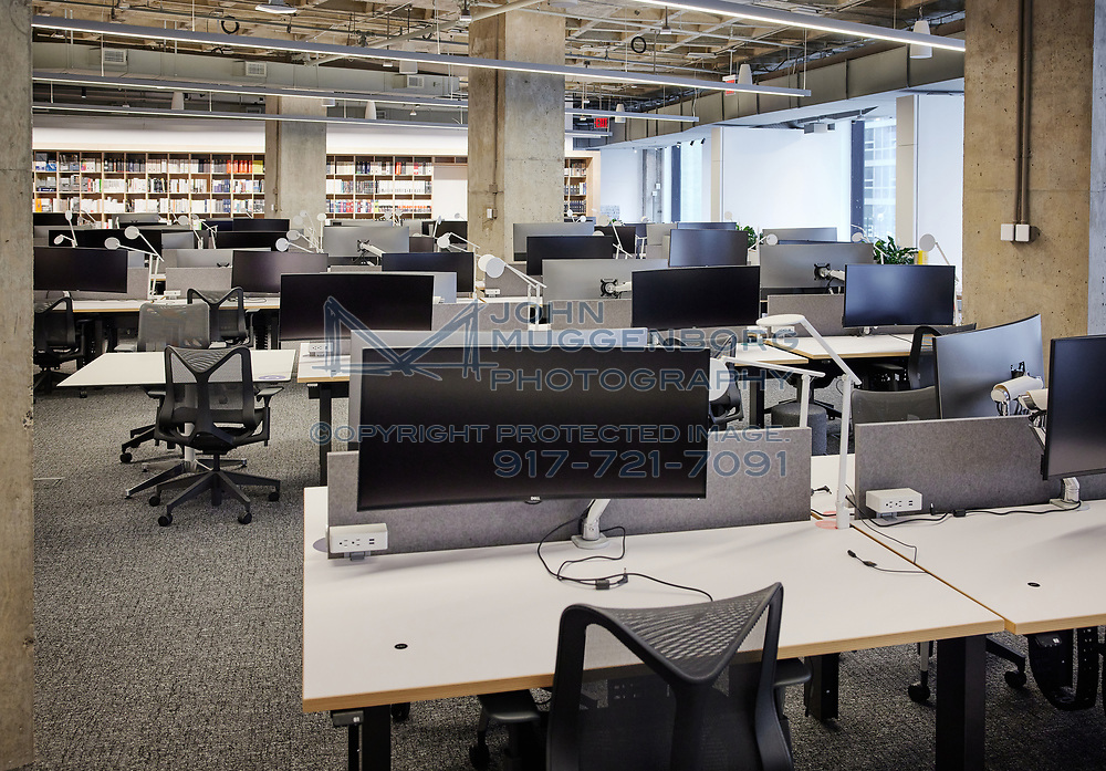 Architecture and Design firm Perkins+Will shows how they're adapting to conducting business during the COVID pandemic. Photographed by John Muggenborg for the New York Times March 26, 2021.<br /> <br /> Assignment ID: 30254527A<br /> _______________________________________<br /> Slug: RETURNTOOFFICE<br /> Story Summary: Return to office<br /> Desk: BIZ<br /> <br /> http://www.johnmuggenborg.com