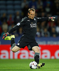 Mark Schwarzer of Leicester City in action  - Mandatory byline: Jack Phillips/JMP - 07966386802 - 22/09/2015 - SPORT - FOOTBALL - Leicester - King Power Stadium - Leicester City v West Ham United - Capital One Cup Round 3
