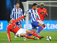 Fotball<br /> Tyskland<br /> Foto: Witters/Digitalsport<br /> NORWAY ONLY<br /> <br /> 23.10.2008<br /> <br /> v.l. Jose Reyes, Raffael, Augustin Binya Lissabon<br /> <br /> UEFA-Cup Hertha BSC Berlin - Benfica Lisboa