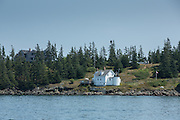 Browns Head, ME - 11 August 2014. Browns Head light, Fox Island Thorofare. The light is maintained by the town of Vinalhaven.