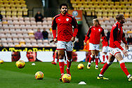 Barnsley defender Zeki Fryers (3) warming up ahead of the EFL Sky Bet Championship match between Norwich City and Barnsley at Carrow Road, Norwich, England on 18 November 2017. Photo by Phil Chaplin.