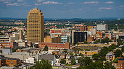 Allentown, PA is the Keystone State's 3rd largest city with more than 120,000 residents.  The tallest and most iconic building at 322' is the PP&L building on Hamilton St.