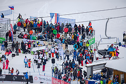 Fans during Final Run at Parallel Giant Slalom at FIS Snowboard World Cup Rogla 2019, on January 19, 2019 at Course Jasa, Rogla, Slovenia. Photo byJurij Vodusek / Sportida
