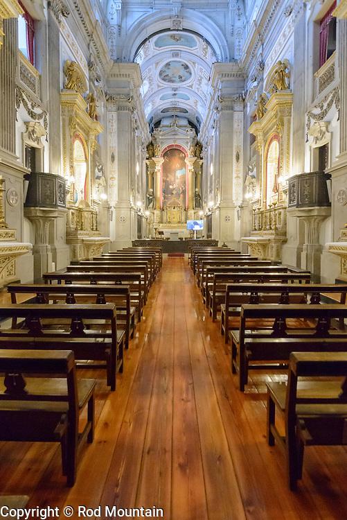 Porto, Portugal - February 13, 2018 - Interior details of the Igreja da Venerável Ordem Terceira de São Francisco (Church of the Venerable Third Order of San Francisco) in Porto, Portugal. <br /> <br /> Image: © Rod Mountain<br /> <br /> http://www.rodmountain.com<br /> <br /> @visitportugal @VOTSFP @visitporto.portal @TurismoPortoNortePortugal @TurismodePortugal<br /> <br /> #CantSkipPortugal #tourismportugal #portugal #visitportugal #turismoemportugal #turismo #rotaportugal #Porto #Church #instatraveling#igtravel#travelmore #wonderfulplaces #getaway #stayandwander #folkgood #Bnw_Sundays #blancinegre#bw_awards #bw_society #bwoftheday #insta_pick_bw #bnw_globe #blackandwhite #bnwphotography #Fodorsonthego #exploretheglobe #worldtravelpics<br /> <br /> Church of São Francisco<br /> https://en.wikipedia.org/wiki/Church_of_São_Francisco_(Porto)<br /> http://ordemsaofrancisco.pt/en/<br /> https://en.wikipedia.org/wiki/Porto<br /> https://www.visitportugal.com/en<br /> https://en.wikipedia.org/wiki/Portugal<br /> http://www.portoenorte.pt/en/