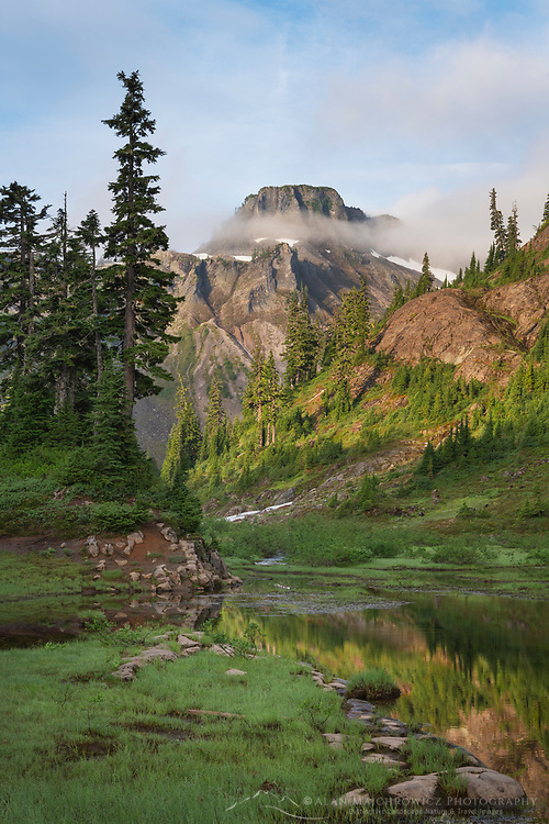 Table Mountain, Heather Meadows Recreation Area, Mount Baker Snoqulane National Forest. North Cascades Washington