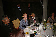 PRIME MINISTER OF MAURITIUS DR. NAVINCHANDRA RAMGOOLAM AND TILDA SWINTON, LE PRINCE MAURICE PRIZE 2006. PRINCE MAURICE HOTEL. MAURITIUS. 27 May 2006. ONE TIME USE ONLY - DO NOT ARCHIVE  © Copyright Photograph by Dafydd Jones 66 Stockwell Park Rd. London SW9 0DA Tel 020 7733 0108 www.dafjones.com