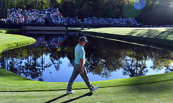 Charley Hoffman walks around the pond on the 15th hole during the third round of the Masters Tournament at Augusta National Golf Club in Augusta, Ga., on Saturday, April 8, 2017. (Photo by Brant Sanderlin/Atlanta Journal-Constitution/TNS) *** Please Use Credit from Credit Field ***