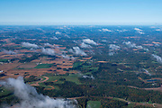 Image from a flight over Middleton, Wisconsin on a beautiful autumn day.