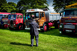 The 44th Biggar Vintage Vehicle Rally held in Biggar on 13th August 2017.  An enthusiast photographing a vintage vehicle.<br /> <br /> (c) Andrew Wilson   Edinburgh Elite media