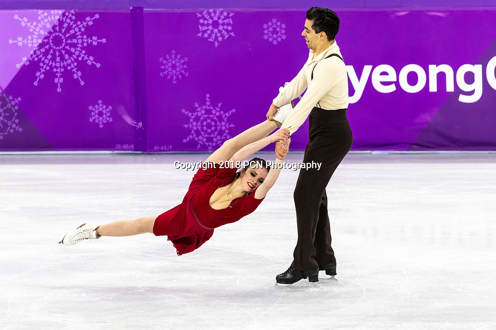 Anna Cappellini/Luca Lanotte (ITA) competing in the Figure Skating - Ice Dance Free at the Olympic Winter Games PyeongChang 2018