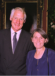 LORD & LADY BUTLER he was Sir Robin Butler, at an exhibition in London on 3rd September 1998.MJO 31