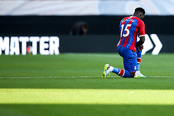 Jeffrey Schlupp of Crystal Palace takes a knee for Black Lives Matter - Mandatory by-line: Robbie Stephenson/JMP - 20/07/2020 - FOOTBALL - Molineux - Wolverhampton, England - Wolverhampton Wanderers v Crystal Palace - Premier League