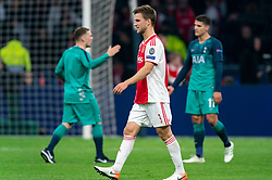 08-05-2019 NED: Semi Final Champions League AFC Ajax - Tottenham Hotspur, Amsterdam<br /> After a dramatic ending, Ajax has not been able to reach the final of the Champions League. In the final second Tottenham Hotspur scored 3-2 / Joel Veltman #3 of Ajax