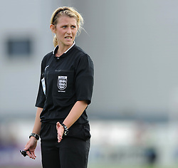 Referee  - Photo mandatory by-line: Dougie Allward/JMP - Mobile: 07966 386802 - 28/09/2014 - SPORT - Women's Football - Bristol - SGS Wise Campus - Bristol Academy Women's v Manchester City Women's - Women's Super League