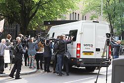 Julien Assange arrives at court ahead of his court case. 01 May 2019 Pictured: Julien Assange. Photo credit: W8Media / MEGA TheMegaAgency.com +1 888 505 6342