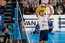 Rick van der Sluis #2 of Sliedrecht Sport in action in the second round between Sliedrecht Sport and Draisma Dynamo on February 29, 2020 in sports hall de Basis, Sliedrecht