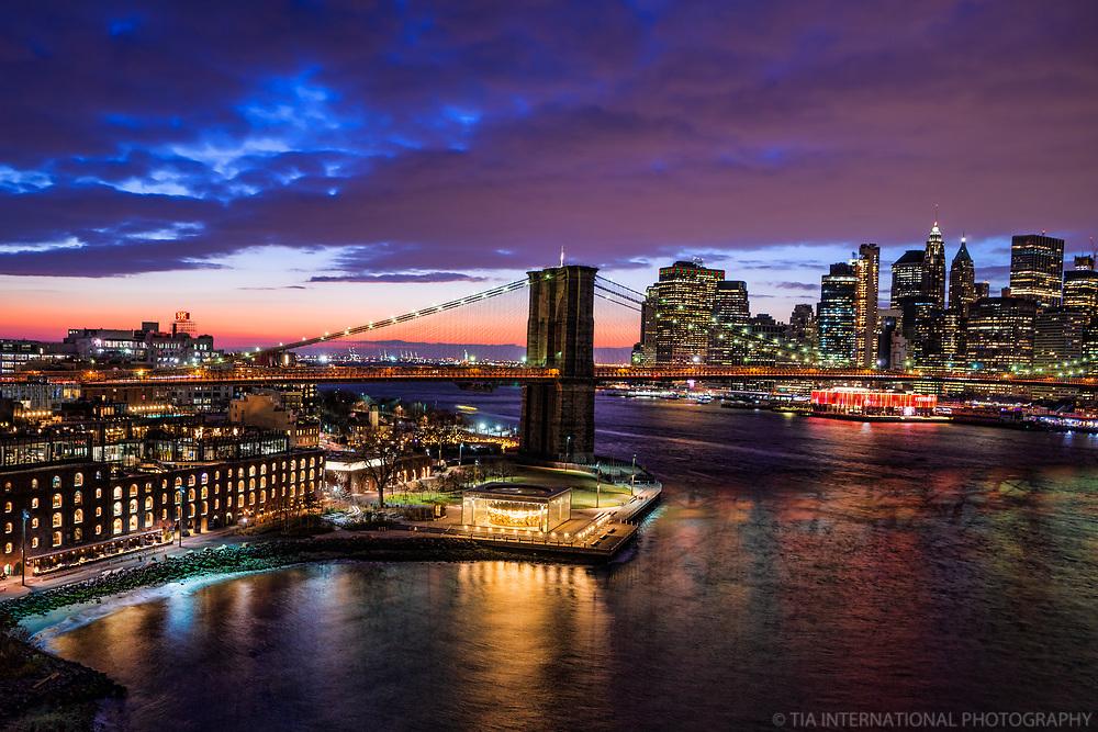 Dumbo, Brooklyn Bridge & Lower Manhattan