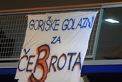 Davor Cebron' poster of his fans  at finals of Slovenian volleyball cup between OK ACH Volley and OK Salonit Anhovo Kanal, on December 27, 2008, in Nova Gorica, Slovenia. ACH Volley won 3:2.(Photo by Vid Ponikvar / SportIda).