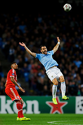 Man City Forward Alvaro Negredo (ESP) in action during the second half of the match - Photo mandatory by-line: Rogan Thomson/JMP - Tel: Mobile: 07966 386802 - 02/10/2013 - SPORT - FOOTBALL - Etihad Stadium, Manchester - Manchester City v Bayern Munich - UEFA Champions League Group D.