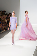 Lilac mini-dress. By Zang Toi, shown at his Spring 20132 Fashion Week show in New York.