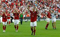 Photo: Steve Bond/Richard Lane Photography. <br /> Ebbsfleet United v Torquay United. The FA Carlsberg Trophy Final. 10/05/2008. Ebbsfleet United head to their supporters