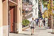 Shoppers on Colorado Boulevard Pasadena on a Sunny Afternoon
