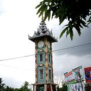 May 15, 2013 - Meiktila, Myanmar: Clock tower in the muslim quarter in central Meiktila. (Paulo Nunes dos Santos/Polaris)
