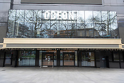 © Licensed to London News Pictures. 17/03/2020. London, UK. A closed Leicester Square cinema due to the Coronavirus outbreak. Photo credit: Ray Tang/LNP