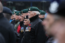 Veterans pay tribute at a Remembrance Sunday service in Fort William town centre, held in tribute for members of the armed forces who have died in major conflicts.