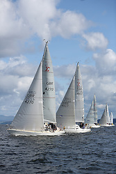 Peelport Clydeport, Largs Regatta Week 2014 Largs Sailing Club based at  Largs Yacht Haven with support from the Scottish Sailing Institute & Cumbrae.<br /> <br /> Sigmas in the CYCA Class 2 start GBR4270, Sigmatic, Donald & Anita Mclaren, CCC/Helensburgh SC