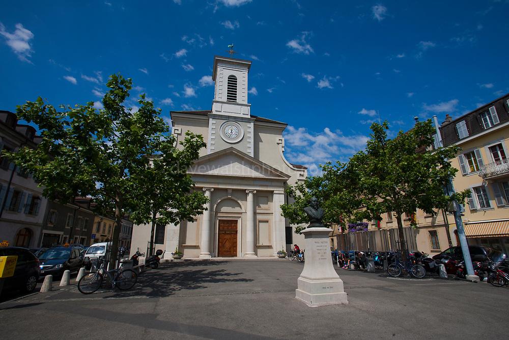 Eglise Sainte-Croix, place du Marche, Carouge, Geneva, Switerland.