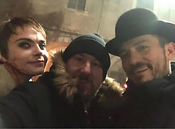 """Cara Delevingne releases a photo on Instagram with the following caption: """"That\u2019s a wrap people!!! Thank you @travisbeacham for creating such a masterpiece. @orlandobloom and I wouldn\u2019t be here without you. From the bottom of my heart, thank you for creating such a brilliant character and trusting me to play her. I CANNOT wait for you guys to see #CarnivalRow @amazonprimevideo #VignetteStonemoss"""". Photo Credit: Instagram *** No USA Distribution *** For Editorial Use Only *** Not to be Published in Books or Photo Books ***  Please note: Fees charged by the agency are for the agency's services only, and do not, nor are they intended to, convey to the user any ownership of Copyright or License in the material. The agency does not claim any ownership including but not limited to Copyright or License in the attached material. By publishing this material you expressly agree to indemnify and to hold the agency and its directors, shareholders and employees harmless from any loss, claims, damages, demands, expenses (including legal fees), or any causes of action or allegation against the agency arising out of or connected in any way with publication of the material."""