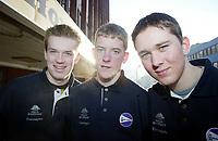 Langrenn, 01. mars 2003, Junior NM,   Pål Sande, Lars Moholdt, Morten Svinsås, alle Ringdals-Troll
