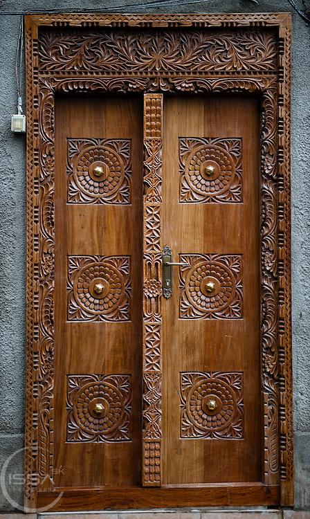 Classic wooden door from Zanzibar