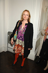 MIRANDA RICHARDSON at a lunch in aid of African Solutions To African Problems held at Il Bottaccio, 9 Grosvenor Place, London on 20th May 2008.<br />