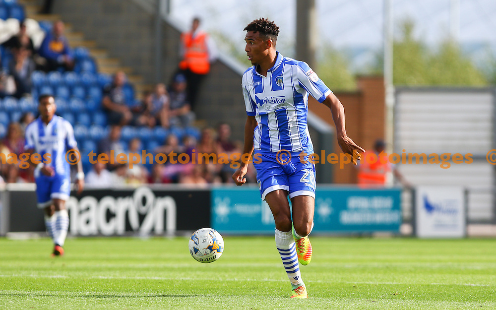 Kurtis Guthrie of Colchester United during the Sky Bet League 2 match between Colchester United and Accrington Stanley at the Weston Homes Community Stadium in Colchester. September 24, 2016.<br /> Arron Gent / Telephoto Images<br /> +44 7967 642437