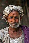 Portrait of a tribesman near Kumbalgarh Fort, Rajasthan