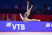 Eleni Kelaiditi during the Individual Rhythmic Gymnastics World Cup at the Vitrifrigo Arena on May 28/29/30, 2021, in Pesaro, Italy. Eleni Kelaiditi was born on April 1, 2000 in Cholargos, Greece.